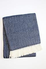 Personalized Herringbone Plush Throw Blanket