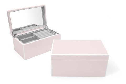 Swing Designs Elle Lacquer Jewelry Box- Soft Pink
