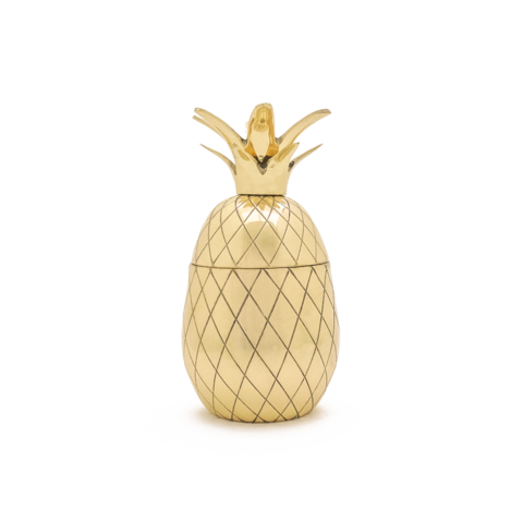 Brass Pineapple Tumbler - gold