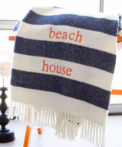 Personalized Striped Blanket
