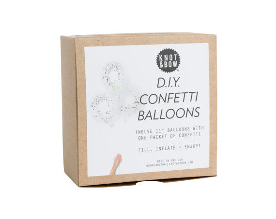 DIY Confetti Ballons - White/Metallic
