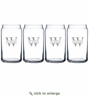 Personalized Beer Glasses- Set of 4