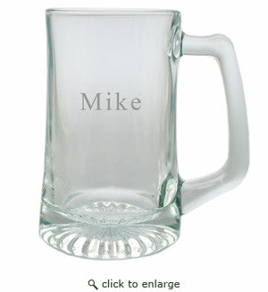 Personalized Glass Beer Mug- Single