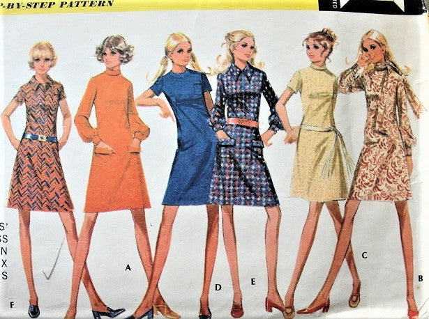 1970s CUTE Dress in Six Versions Pattern McCALLS 2549  Bust 32 Vintage Sewing Pattern