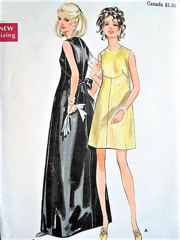 60s BEAUTIFUL Evening Gown Cocktail Party Dress Pattern BUTTERICK 5548 Stunning Special Occasion Dress,Very Belinda Bellville Bust 32 Vintage Sewing Pattern Uncut