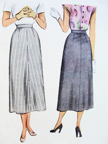 40s Skirt Pattern McCall 7307 Slim Style Skirt Easy To Make Only 3 Pcs Waist 32 Vintage Sewing Pattern