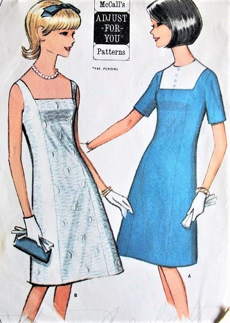 1960s CUTE A Line Dress Pattern McCALLS 7722 Day or After 5 Styles Bust 31 Vintage Sewing Pattern UNCUT
