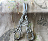 Beautiful Vintage SILVER GRAPE Shears, Grape SCISSORS Figural Handles,Ornate Silver,Fine Serving Silver,Fine Dining,French Country Decor,Collectible Vintage Silver