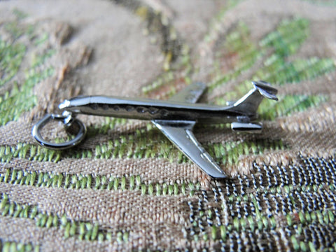 Vintage STERLING AIRPLANE PENDANT, Sterling Silver, Airplane Charm,Sterling Silver Airplane,Collectible Charms, Charm Bracelets,Vintage Silver Charms,Aviation Charm