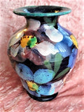 GORGEOUS Antique Hand Painted Vase Very Early 1930s Moorecroft Beautiful Colors Highly Decorative Collectible Vintage Art Pottery