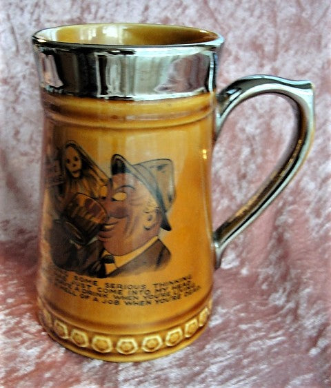 Antique Lord Nelson England Tankard Beer Mug Vintage English Pottery Man Cave Beer Stein Great Gift For Men Collectible Tankards