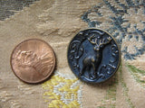 Antique Figural Metal Victorian Fancy Button STAG Highly Detailed Design Lovely Collectible For Button Collector