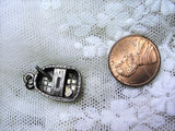 FABULOUS Antique Silver Charm Reed Boat Coracle Boat British Isles Row Boat Beautiful Details Antique Jewelry