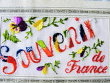 BEAUTIFUL 1917 WW I Silk Embroidered Souvenir Postcard  Greeting Card from France