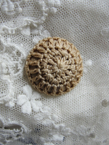 Lovely Antique Victorian Button Crocheted Crochet Collectible Button