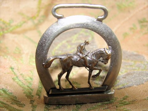 BEAUTIFUL Victorian Detailed Figural Horse Fob Jockey Horse Racing Equestrian Watch Fob Pendant Antique Jewelry Jewellery