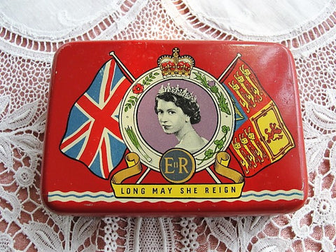 Vintage OXO Tin Commemorating Coronation of Queen Elizabeth II 1953, Collectible Vintage Oxo Tin, Royal Kitchenalia, Royalty, Collectible Tins