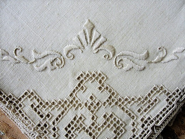 BEAUTIFUL Vintage Italian Linen Napkins Set Beautiful Quality Table Linen Perfect Wedding Bridal Gift Collectible Vintage Linens