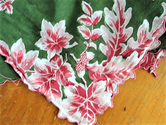 COLORFUL Vintage Printed Hanky Handkerchief Hankie Lovely Design Perfect to Frame Collectible Vintage Hankies