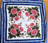 Lovely VINTAGE 50s COLORFUL Printed Hanky Handkerchief Hankie Frame It Give It As a gift Collectible Hankies