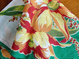 VINTAGE 1940s COLORFUL Printed Hanky Handkerchief Hankie Collectible Hankies Perfect To Frame