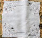Lovely Vintage WEDDING HANDKERCHIEF Deco Drawn Thread Gorgeous Bridal Hankie Stunning Applique Work Finest Linen Hanky Never Used