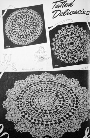 American Thread Company Star Book of Doilies Crochet and Tatting Book 22 Vintage Patterns