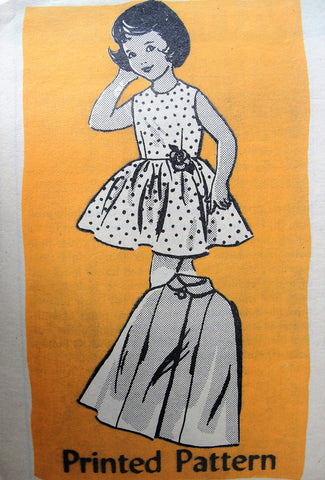 60s Vintage CHARMING Childs Sleeveless Dress and Cape Coat Anne Adams Pattern 4529 Sewing Pattern Chest 28