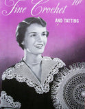 VINTAGE 1940s Lovely Coats n Clark 259 Book Fine Crochet Tatting Patterns Doilies, Collars,Trims,Butterflies Etc