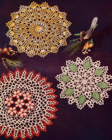 VINTAGE 1950s Star 87 Crochet Book Doilies Gems of Color Crocheted Patterns Beautiful Figural Lace Flower Ruffle Hairpin Lace Doilies