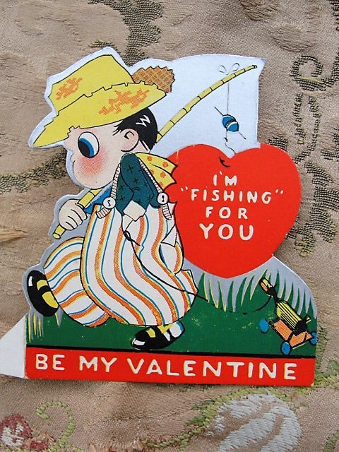 1920s VINTAGE Valentine Greeting Card ADORABLE