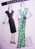 1940s Evening Gown or Cocktail Party Dress Pattern BUTTERICK 3684 Bust 34 Stunning Vintage Sewing Pattern