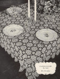 1940s Clarks Crochet for Tables Book No. 202 Beautiful Patterns For Crocheted Table Linens