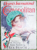 RARE Art Deco 1920s COSMOPOLITAN Magazine Harrison Fisher Full of Lovely Ads Articles Amelia Earhart Lucky Strike Cigarette Ad Great Gift