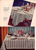 Vintage 1950s Coats and Clark Book 321 New Look Table Settings Crochet Hairpin Lace Patterns Motif