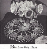 1940s Vintage Crochet Book Figural Floral Doilies # 258 Daffodil Pansy Daisy Irish Rose Aster Lovely Patterns