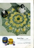 1950s Crochet Craft Book Mid Century Decor J and P Coats Clarks # 283 New Ideas in Doilies