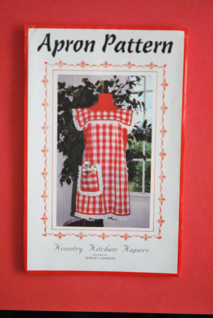 1980s Retro Kountry Kitchen Kapers Apron or Maternity Smock Pattern