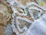 BEAUTIFUL Antique Lace Hankie BRIDAL WEDDING Handkerchief Hanky Battenberg Lace Perfect Bride to Be Bridal Wedding Something Old Present
