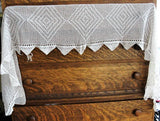 CHARMING Antique French Country Farmhouse Shelf Mantle Trim, Kitchen Valence, Cheminee ,Pelmet, Fireplace Trim, Vintage Lace, Chic Decor