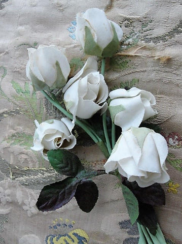 BEAUTIFUL Antique Large Flower Corsage,1930s Roses Corsage,Vintage Millinery Flowers, Fabric Flowers, Photo Prop,Wedding Floral, Collectible