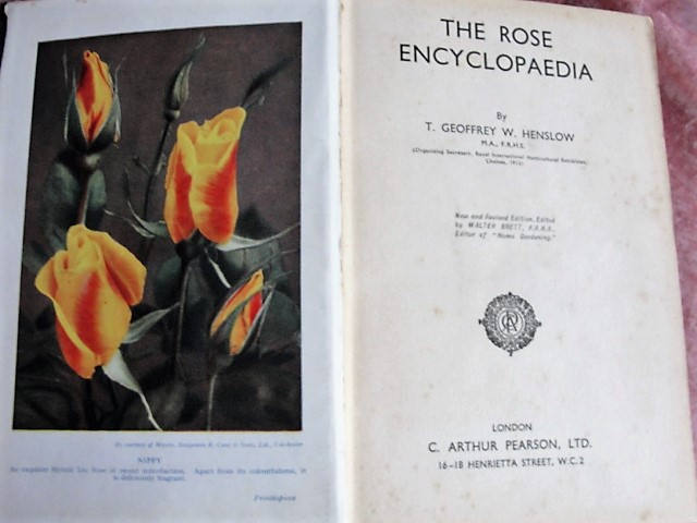 RARE The Rose Encyclopaedia By T Geoffrey W Henslow Organising Secretary Royal International Horticultural Exhibit 1912 A MUST 4  Rose Lover