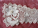 BEAUTIFUL Antique Hand Crochet IRISH Lace Collar Highly Detailed Victorian NeedleWork Irish Crochet Needle Lace Collectible Antique Lace