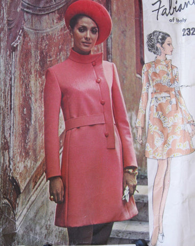 70s Stunning FABIANI Dress Pattern VOGUE COUTURIER Design 2325 Side Closing Bust 34 Vintage Sewing Pattern