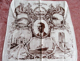1937 CORONATION Handkerchief King Edward VI,Royalty Souvenir Hanky,English Royal Memorabilia,RARE Collectible Royalty Queen Elizabeths Father