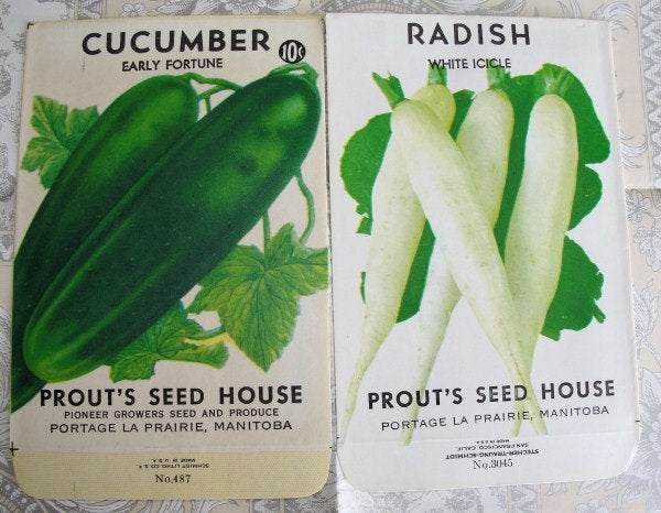 VINTAGE Vegetable Seed Packets Perfect To Frame Highly Decorative Great For Scrapbooking, Gifts, Farm House French Country Decor
