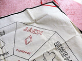 1920s-30s VINTAGE Card Game Tablecloth, Bridge Tablecloth, Hand Embroidered,Deco TableCloth,Rummoli,Bridge Card Players,Vintage Table Linens