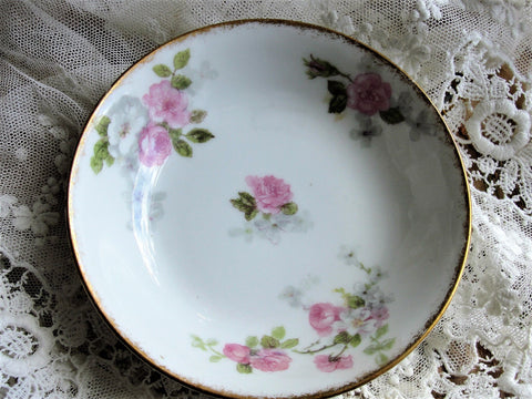 Antique LIMOGES GDA Bowl,Pink Roses,Haviland Limoges,Pin Dishes,Tea Bag Plates,Vintage Limoges Bowls,Fruit Nappy, Farmhouse,French Decor