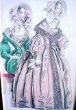 1830s ANTIQUE FASHION PRINT Beautiful Bonnets Dresses The Newest Fashions of London, Paris Great Mothers Day Gift