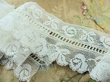 Antique 20s Lace Trim DELICATE ROSES Pattern Flapper Era Great for Lingerie Flapper Gatsby Downton Abbey Clothing Bridal Wedding